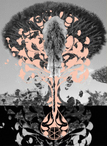 a tree is a tree is an eggman is a walrus, belle bassin, art, artist, artwork, collage, color